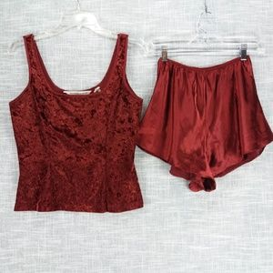 Victorias Secret Vintage Pajamas 90s Medium Velvet